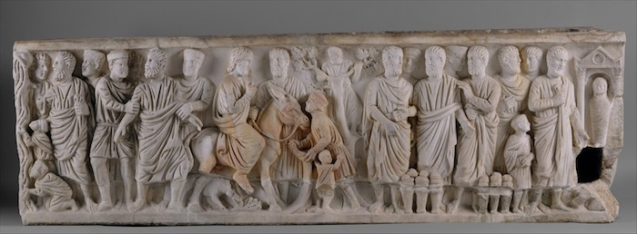 Sarcophagus with Scenes from the Lives of Saint Peter and Christ (Metropolitan Museum of Art, Public Domain)